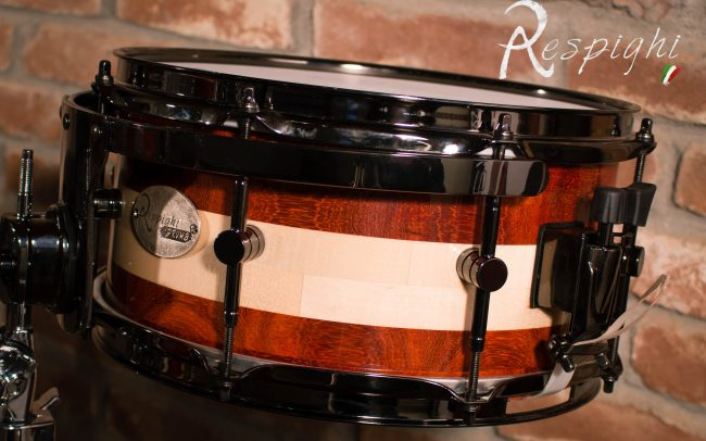 picture of a Respighi Drums Tom in padouk and maple