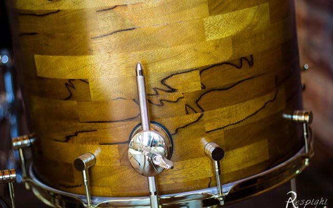batteria artigianale in black limba timpano