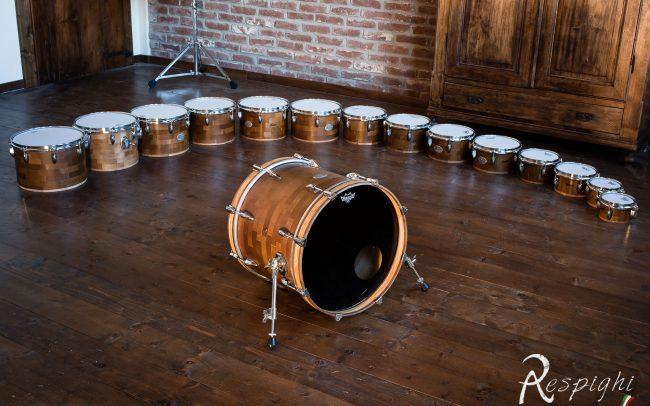 immagine di una batteria melodica Respighi a tom multipli intonati