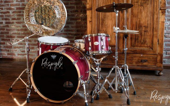batteria artigianale a doghe acero liscio - drum maple segmented drum
