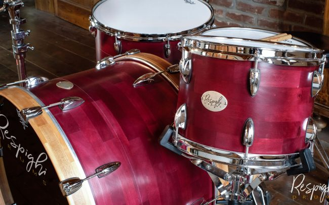 batteria artigianale acero liscio - poplar segmented drum