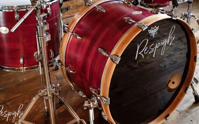 cassa batteria artigianale acero liscio - bass drum maple segmented drum