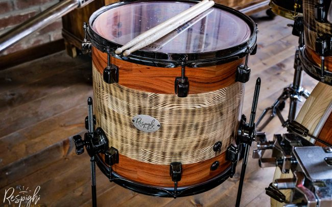 Timpano a doghe orizzontali in frassino e padouk Sardegna Mood di Respighi Drums