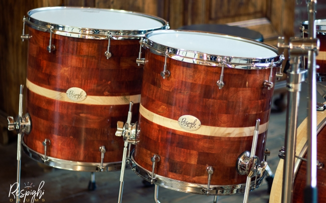 Timpani a doghe orizzontali Royal Maple in acero marezzato di Respighi Drums