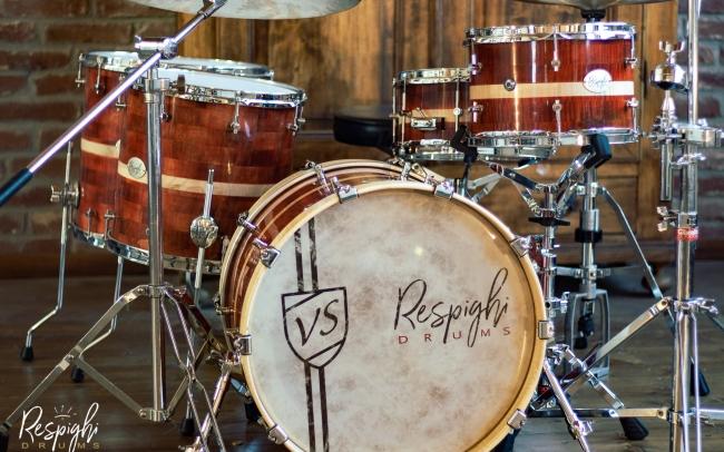Batteria artigianale Royal Maple in acero marezzato di Respighi Drums
